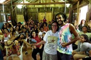 Marjorie do Ponto de Cultura e Diogo Souza do Ctur