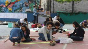 Estudantes do Ctur constroem instalações pedagógicas